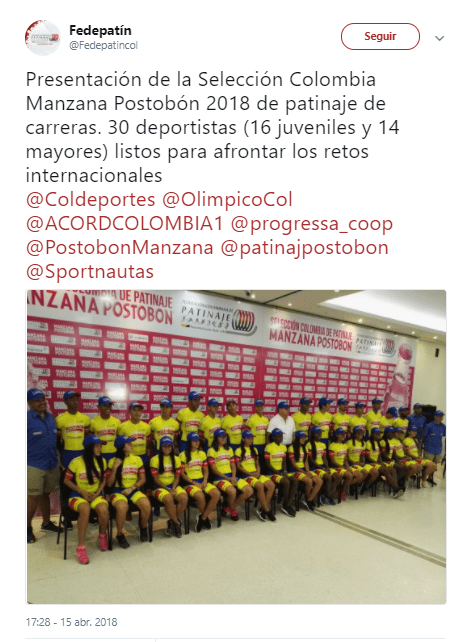 Selelccion Colombia de Patinaje