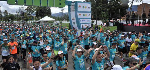 Media Maratón de Bogota Sello Platino