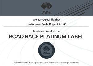 Sello Platino Media Maraton de Bogota