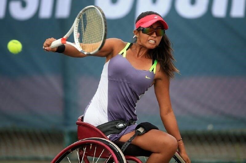 tennis paralimpico María Angélica Bernal