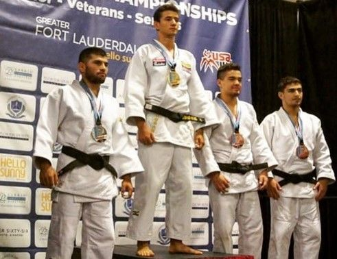 Juan Pablo Hernández judo podium