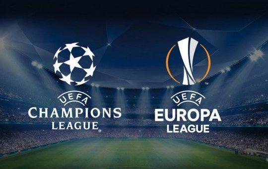 cuartos de final de Champions League y UEFA Europa League