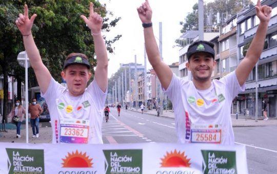 finalizó la media maratón de Bogotá 2021